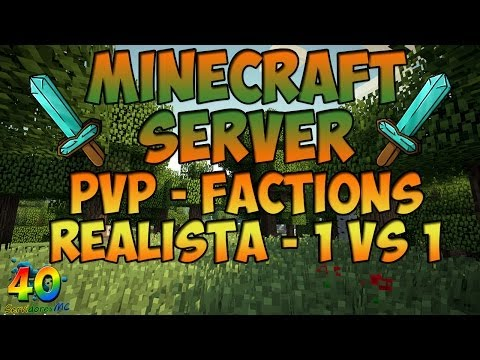40sMC Minecraft Server PvP Realista & Factions 1.7.2 - 1.7.4 | No Premium -