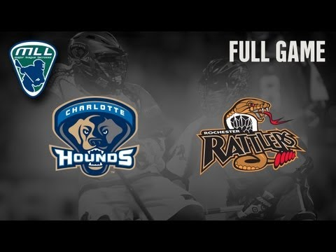 MLL's Youtube Game of the week: Charlotte Hounds at Rochester Rattlers