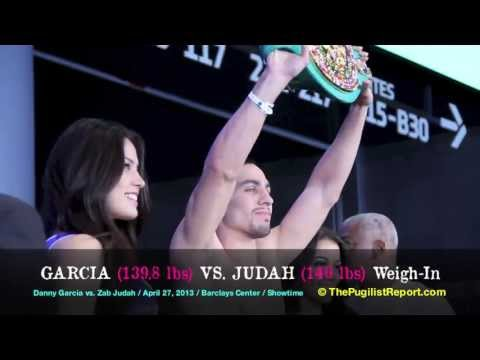 Danny GARCIA vs. Zab JUDAH Official Weigh-In from the Barclays Center!