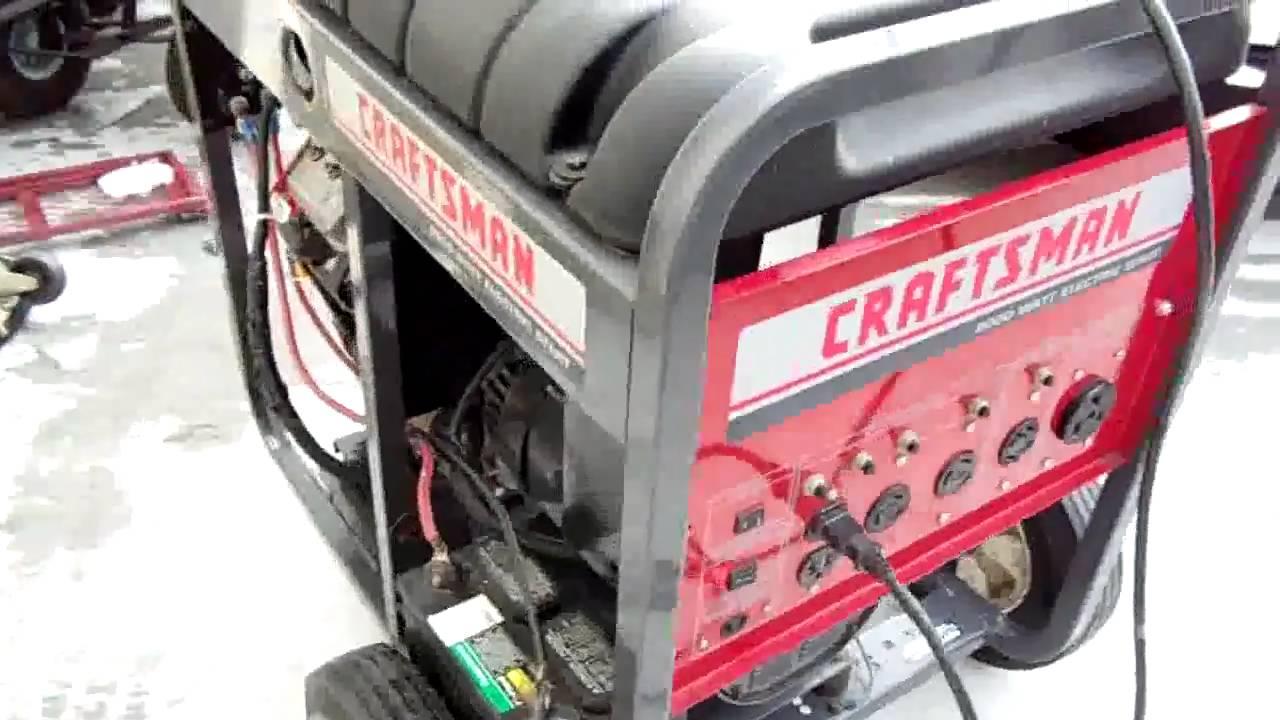 Craftsman 8000 Watt Generator Youtube