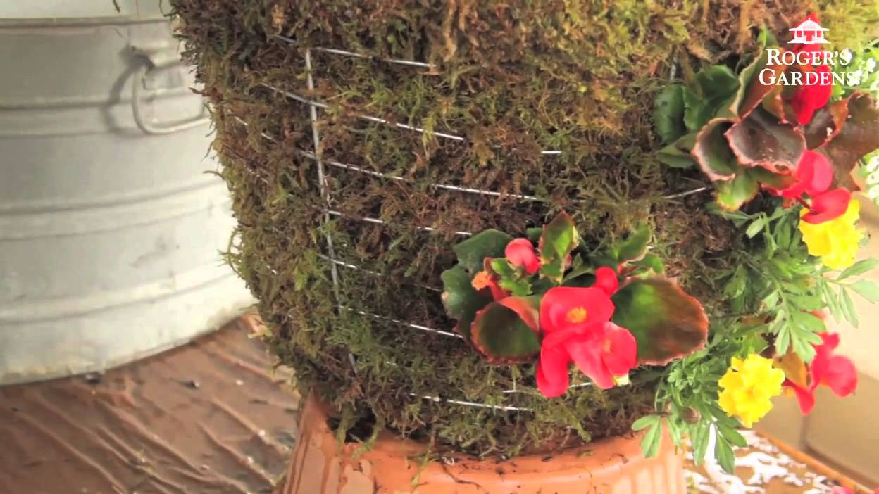 How To Make A Moss Hanging Garden Basket With Lisa Youtube