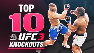 EA SPORTS UFC 3 - TOP 10 UFC 3 KNOCKOUTS - Community KO Video ep. 1