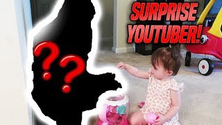 SURPRISE YOUTUBER COMES OVER FOR THEIR BIRTHDAY!
