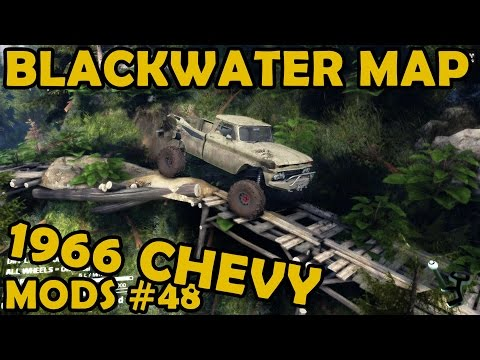 Spin Tires Mod Review #48 - Blackwater Map + 1966 chevy