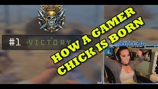 HOW A GAMER CHICK IS BORN!  CoD BLACKOUT Battle Royale