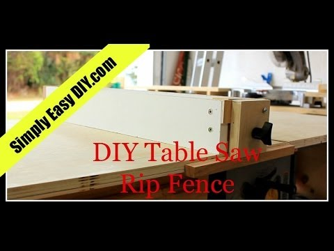 DIY Table Saw Workstation Part 2 - Rip Fence