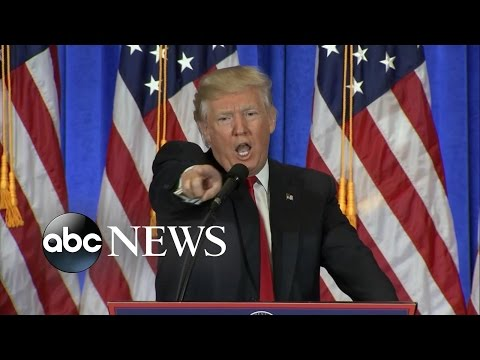 Trump's Heated 1st News Conference as President-Elect