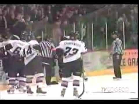 hockey fight Brashear vs Leinhos 2004-2005.mpg