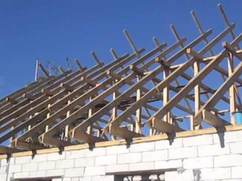 Крыша двухскатная дома видео