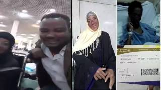 Ethiopian woman Fetiha who was suffering is finally back to her country.