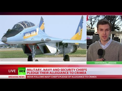 Switching Sides: Ukraine's Air Force Brigade, Navy Chief Pledge Allegiance To Crimea video