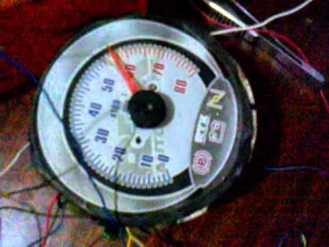 Тахометр на шаговом двигателе