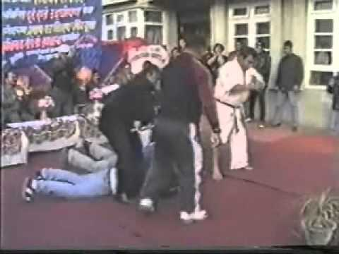 Nepal kyokushin karate Branch Chief Ramji prashad Bajracharya  Stick breaking Demonstration Image 1