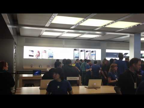 iPhone 5: entrando na Apple Store Fifth Avenue e primeiro unboxing do aparelho