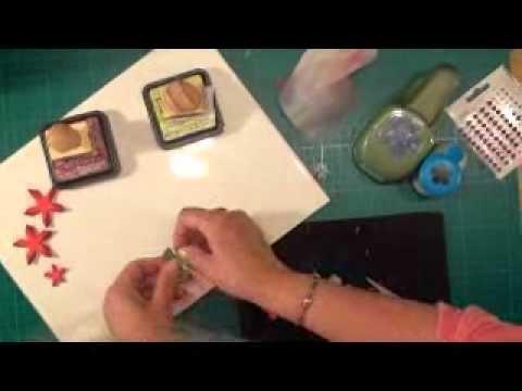 Poinsettia Flower Tutorial Card Making Magiccom YouTube
