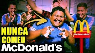 QUEM PERDER... PAGA O Mc Donald's!!! *Era o maior sonho dele!