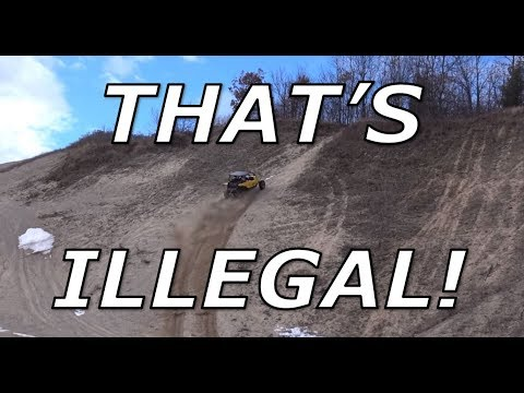 Hill shooting at an ILLEGAL gravel pit! X3 XRS, YXZ, RZR!!