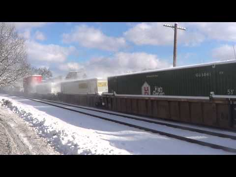 NS 205 w/ Erie Lackawana 1074 and NS 2648 at Shirley, Ma. 1/1914