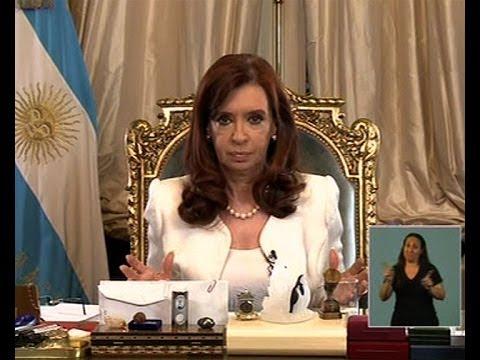 Cristina aseguró que Argentina