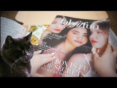 Spring Beauty Unboxing with my Cat! (ASMR) Close Whispers, Tapping, Crinkles
