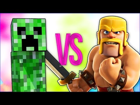MINECRAFT VS CLASH OF CLANS | СУПЕР РЭП БИТВА | Клеш Оф Кленс ПРОТИВ Майнкрафт