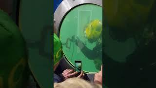 Underwater welding preparation and demo