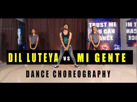 Dil Luteya VS Mi Gente Dance Video | Vicky Patel Choreography | Hip Hop thumbnail