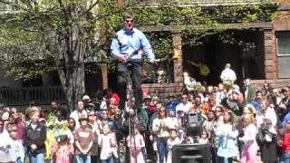 Juggling fire at the Easter Parade