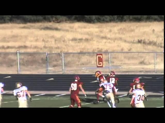 11-8-14 - 28 yard INT return for Cameron Alexander (Brush 19, Faith Christian 0)