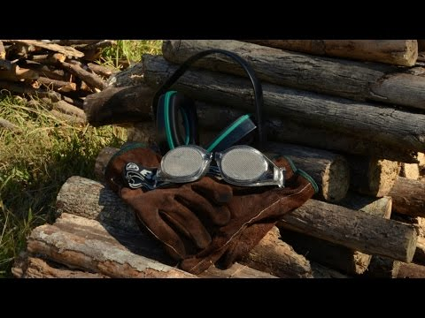 Bugz-Eye Goggles Review - Chainsawing Firewood