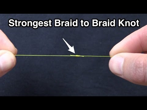 Strongest Briad to Braid Fishing Knot [Modified Double Uni Knot]