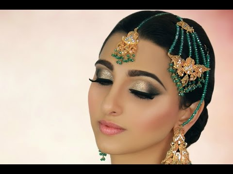 Ivory Smokey Eye with Glitter - Tradtional Pakistani Indian Asian Arabic Bridal Makeup Tutorial