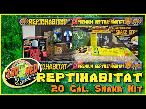 Zoo Med 20 Gallon ReptiHabitat™ Snake Kit