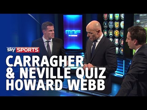 Gary Neville & Jamie Carragher quiz Howard Webb on yellow cards and discipline