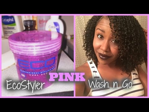 EcoStyler Gel Pink Wash and Go Tutorial + Review