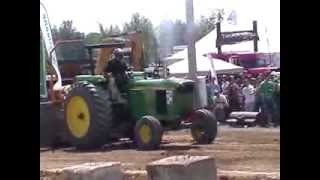 John Deere 6030 pulling Bedford 2013 part1/4 Jason Van De Weerth Over 571 feets!