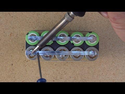 How to solder 18650 Li-ion batteries to make a custom-made battery pack (Ebike)