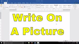 How To Write On A Picture In Microsoft Word-Tutorial