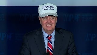 Lindsey Graham roasts Trump, Cruz in D.C. speech