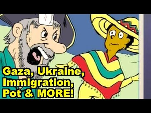 Gaza, Ukraine, Immigration, Pot - Neil deGrasse Tyson & MORE! LiberalViewer Sunday Clip Round-Up 66