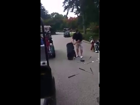 Bryce Bundy: Man Breaks All His Golf Clubs