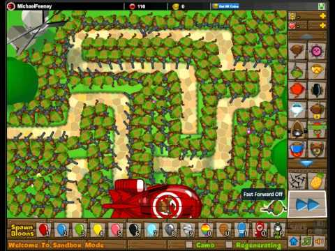 Bloons tower defense 5 Sniper monkey vs ZOMG - YouTube