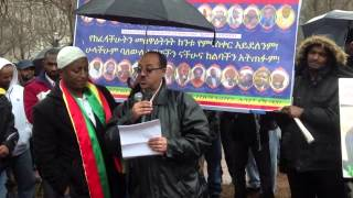 Press release of Dimstachen Yisema and Haji Najib's speech at Lafyate Park , Washington DC