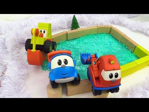Грузовичок Лева и машинки строят каток - Игрушки из мультфильмов