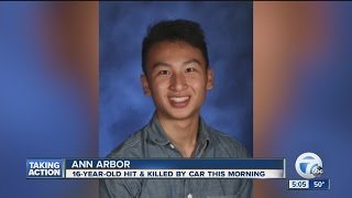 Student struck and killed near Huron High School in Ann Arbor