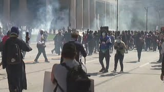 Tear gas used in Cleveland protest
