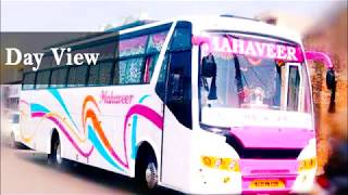 Mahaveer tours and travels TATA bus