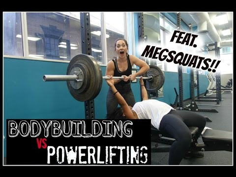 POWERLIFTING vs. BODYBUILDING | Training w/ MegSquats!