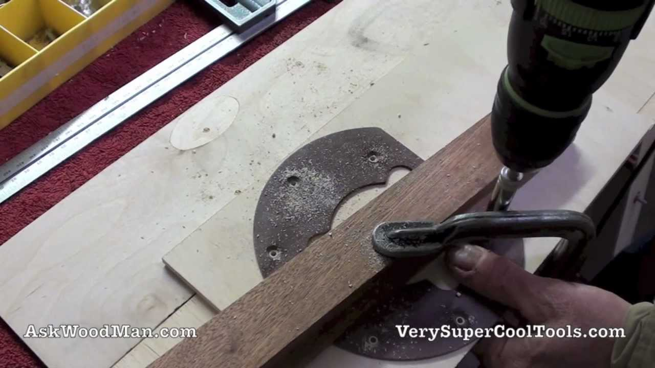 19 of 27 making the router table insert diy biesemeyer for Router table guide
