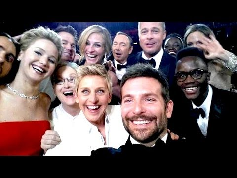 Ellen's Oscar Selfie Breaks Twitter & Travolta's Mouth Gives Birth To @AdelaDazeem